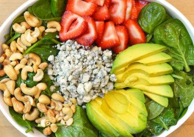Strawberry Avocado Cashew Salad